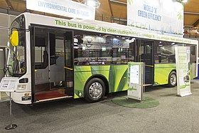 Volgren 'CR228L' bodied Volvo B5RHLE at the Australian Bus and Coach Show.jpg