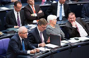 Gerda Hasselfeldt - Gerda Hasselfeldt alongside Volker Kauder, Michael Grosse-Brömer and Max Straubinger at the Bundestag, 2014