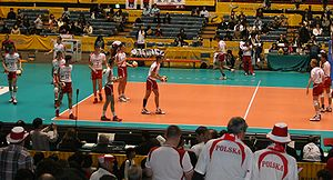 2006 FIVB Volleyball Men's World Championship - Polish players at their semifinal.