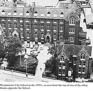Westminster City School - Aerial view of School