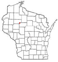 Location of McKinley, Taylor County, Wisconsin