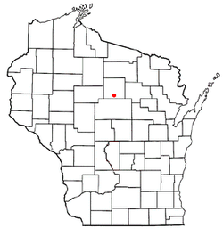 Location of Merrill within Wisconsin
