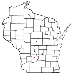 Location of Rock Springs, Wisconsin