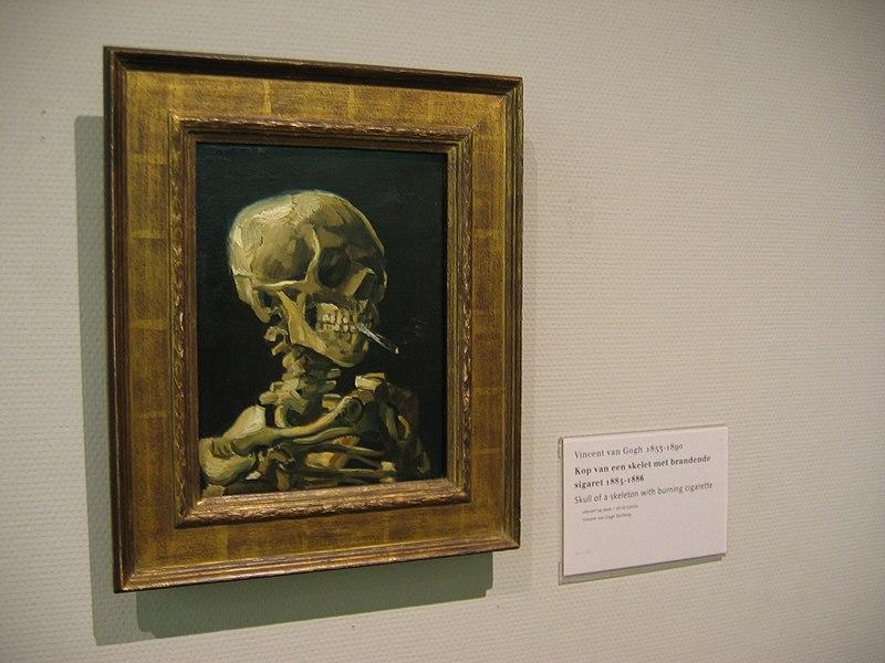 File:WLANL - Minke Wagenaar - Vincent van Gogh 1885-1886 Skull of a skeleton with burning cigarette.jpg