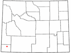Location of Carter, Wyoming