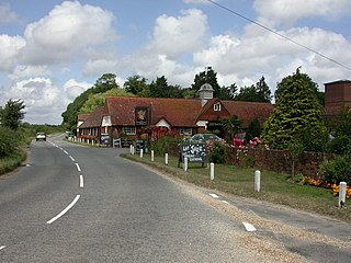 Walhampton hamlet in the New Forest National Park of Hampshire, England