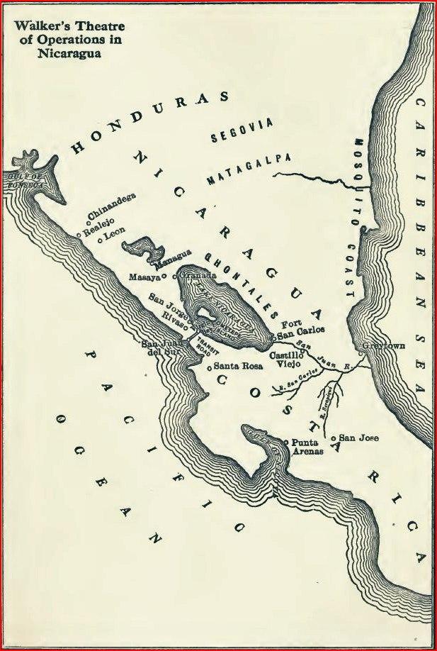 Walker Nicaragua map