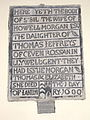 Wall mounted grave slab to Sybil Morgan, 1600.jpg