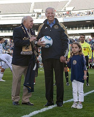 Walter Bahr - Bahr (left) with Joe Biden at a Philadelphia Union match