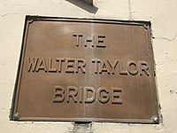 Walter Taylor Bridge name plaque.JPG
