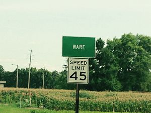 Ware, Illinois - Highway 3 sign