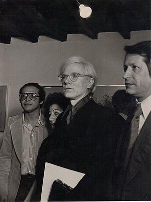 Carmine Benincasa - Andy Warhol with prof Benincasa (left), Rome, c. 1980