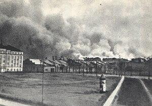 Mordechai Anielewicz - Warsaw Ghetto in flames