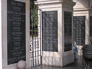 Tomb of the Unknown Soldier (Warsaw) - Some stone tablets