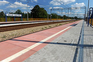 railway station in Warsaw, Poland