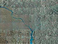 Fotografía aérea del área metropolitana de Washington D. C.