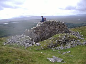 Glinsk, County Mayo - Image: Watch tower on Glinsk Mountain in County Mayo