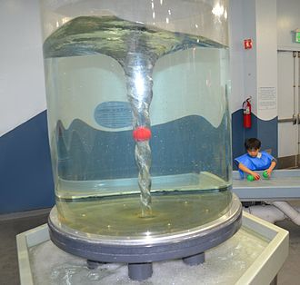 Children's Discovery Museum of San Jose - Water vortex on display at the museum