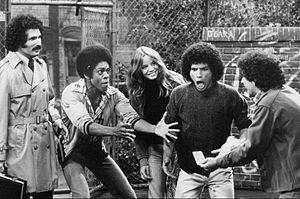Welcome Back, Kotter - The Sweathogs celebrate a winning lottery ticket as Mr. Kotter looks on.