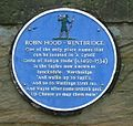 Wentbridge Robin Hood blue plaque (cropped).jpg