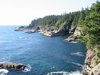 Pacific temperate rainforests (WWF ecoregion) - A view of the West Coast Trail, one of the three regions of  Pacific Rim National Park Reserve