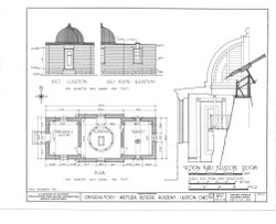 Western Reserve Academy, Loomis Observatory, Western Reserve University, Hudson, Summit County, OH HABS OHIO,77-HUD,2C- (sheet 1 of ).tif