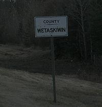 Wetaskiwin County sign.JPG