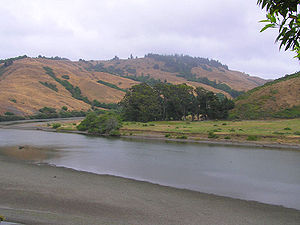 Russian River (California) - The Russian River downstream of Duncans Mills