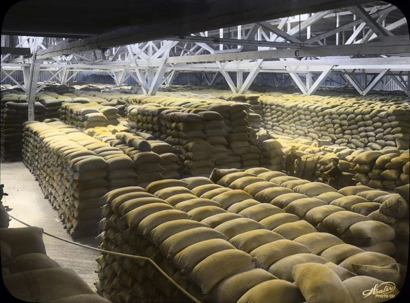File:Wheat sacks in a Portland, Oregon warehouse (3718620966).jpg