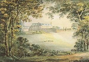 "Whiteway, Kingsteignton -  ""Whiteway, seat of the Yardes"", watercolour by Reverend John Swete (died 1821) dated 10 July 1795. Devon Record Office: DRO 564M/F8/119"
