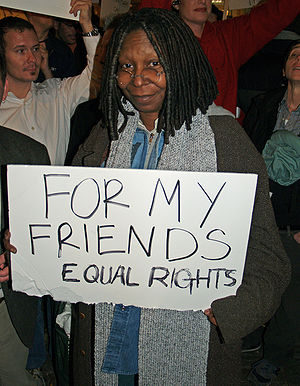 Whoopi Goldberg - In New York City protesting California Proposition 8 (2008)