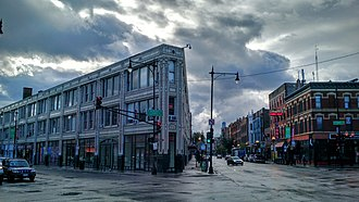 Wicker Park, Chicago - View of Milwaukee Avenue in Wicker Park