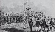 Feierliche Übernahme des Jadegebiets 1854 durch Preußen (Quelle: Wikimedia)