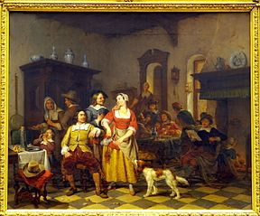 Jan Steen and Frans Van Mieris in the Inn
