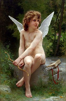 La figure de Cupidon par Bouguereau, 1890, illustre la façon dont les connotations du nu enfantin se sont modifiées au cours du XXe siècle