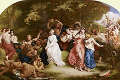 William Edward Frost (1810-77) - Una among the Fauns and