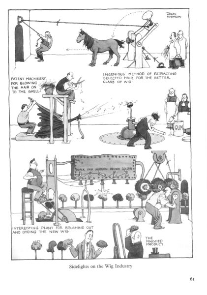 Heath Robinson: industria de pelucas