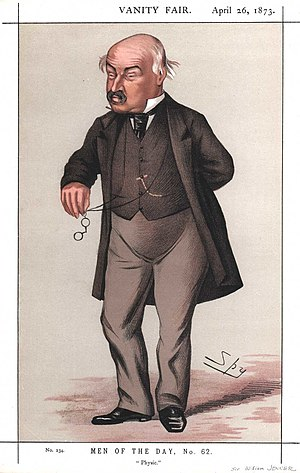 "Sir William Jenner, 1st Baronet - ""Physic"" Jenner as caricatured by Spy (Leslie Ward) in Vanity Fair, April 1873"