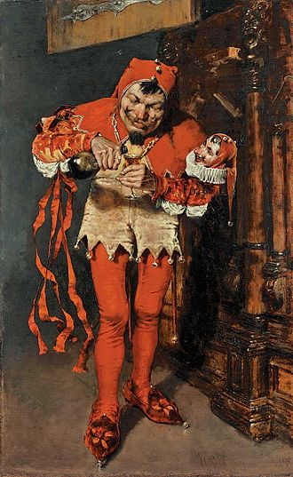 "Jester - ""Keying Up"" – The Court Jester by William Merritt Chase 1875. (Pennsylvania Academy of the Fine Arts)"