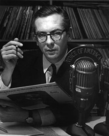 Willis Conover broadcasting with Voice of America in 1969