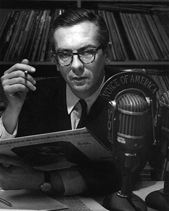 Politico-media complex - Willis Conover, host of the VOA's Music USA program, 1969.