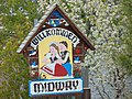 Willkommen to Midway sign on South Center St (SR-113), Apr 16.jpg