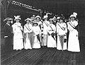 Wilmington women wait to travel to Washington, D.C. c. 1913 or 1914.jpg