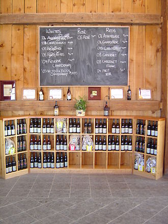 """Cellared in Canada - Wine designated as """"Cellared in Canada"""" can be sold in Canadian wine shops as local, domestic wine even though it generally made from foreign grapes."""
