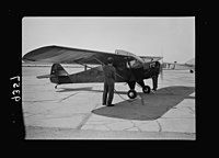 Wings over Palestine-Certificates of Flying School, April 21, 1939. A plane about to take off for a test flight (closer up) (Lydda Air Port) LOC matpc.18302.jpg