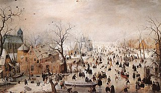 Winter Landscape with Ice Skaters, Hendrick Avercamp, 1608