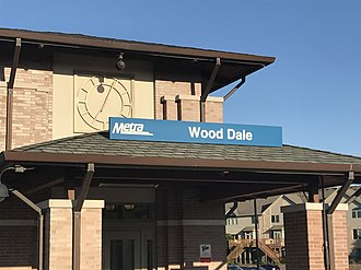 Wood Dale station - Image: Wood Dale Station 002