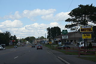 Woodruff Wisconsin Downtown Looking North US51.jpg