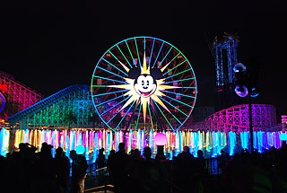 <i>World of Color</i> nighttime spectacular at Disney California Adventure Park