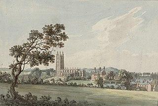 Wrexham town and church